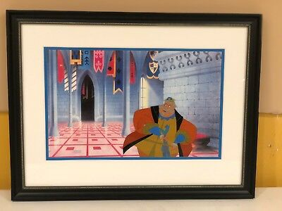 "Disney original production cel of King Hubert from ""Sleeping Beauty"""