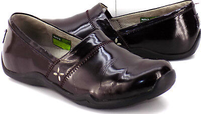 61f636d58bb Ahnu Jackie Patent Leather Dark Brown Clogs   Loafers Women s US Shoe Size  7.5M