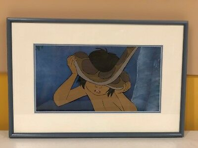 """Disney original production cel of Mowgli and Kaa from """"Jungle Book"""""""