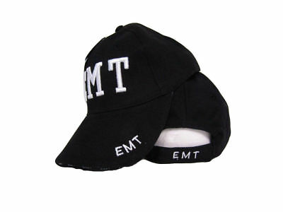 Emt Emergency Medical Technician Rothco Sewn Adjustable Hat Cap Black