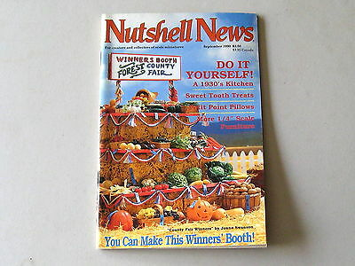 #2085 September 1990  Nutshell News Minatures Magazine For Creators & Collectors
