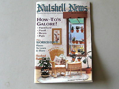 #2089  May 1990  Nutshell News Minatures Magazine For Creators & Collectors
