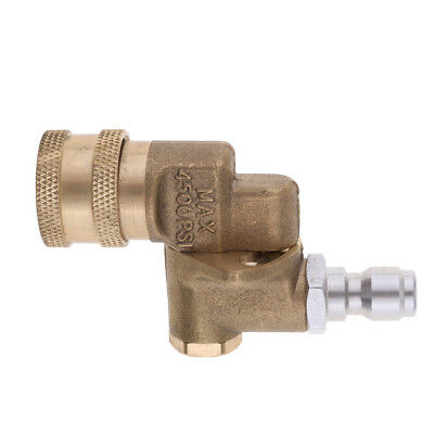 """1/4"""" Pressure Washer Pivot Coupler For Hard To Reach Areas 4000PSI"""