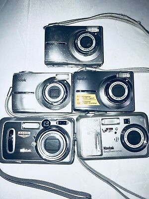 Lot Of 5 Assorted Kodak Cameras For  Parts
