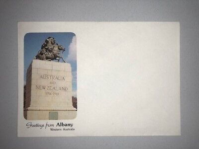 Greetings from Albany WA Monument Vintage Souvenir Single Envelope