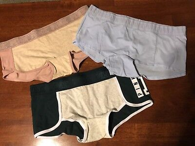 fee03e4ee4 LOT OF 3 Brand New Pink By Victoria s Secret Boy Short Panties Size Large  NWT -  16.99
