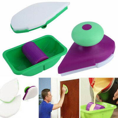 4pcs House Wall Painting Edger Paint Roller Brush Kit Runner Pro Easy Paint Tool