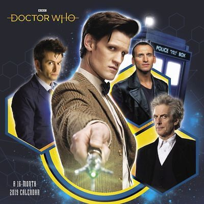 Doctor Who TV Series 16 Month 2019 Wall Calendar NEW SEALED