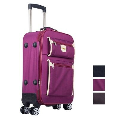 Travel Luggage Wheels Suitcase Spinner Carry-Ons Upright Trolley Case 20/24/28""