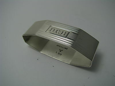 ART DECO SOLID STERLING SILVER NAPKIN RING NAPKIN HOLDER The Merrill Shops 1930s