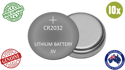 GENUINE 10pack 3V CR2032 Button Coin BATTERY LITHIUM CELL 5004LC DL2032 ECR2032