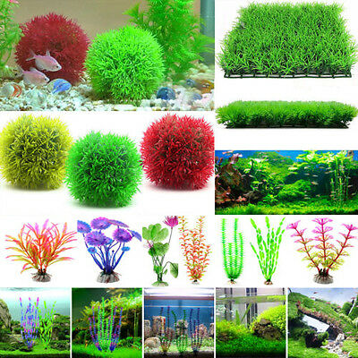 Aquarium Artifical Plastic Grass Fish Tank Deco Landscaping Ornament Water Plant