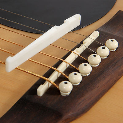 Fresh Buffalo Bone Bridge Saddle And Slotted Nut For 6 String Acoustic Guitar fS