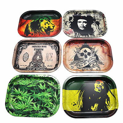 Cool Cigarette Rolling Tray Metal Prime Smoking Holder Trays 18cm*14cm / 7*5.5in