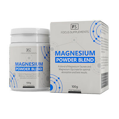 Magnesium Powder Blend | 100g/300g | Including Magnesium Taurate & Glycinate