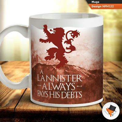 e2ec75f47f0 Always pays his debts Game of thrones house lannister coffee tea mug cup  gift &