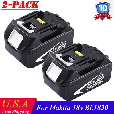 2x18V Battery For Makita BL1840 BL1830 BL1815 LXT Lithium Ion Cordless 3.0AH HOT