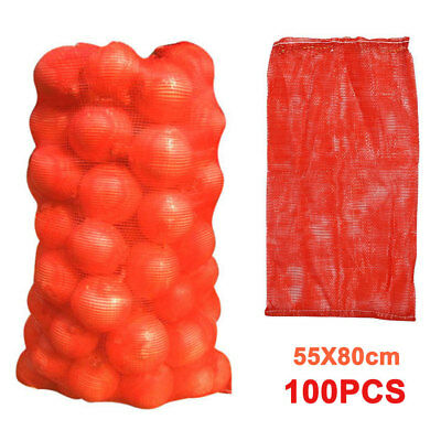 100 Net Sacks Vegetables Logs Kindling Wood Log Mesh Bags Carrot Onions Potato