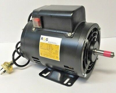 1HP 0.75kW 1400 RPM 240 Volt Foot Mount Electric Motor with on/off switch**