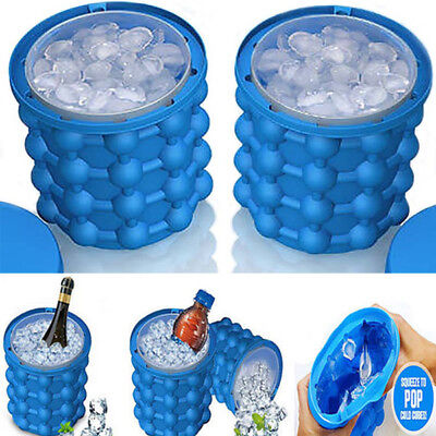 120 Ice Cube Maker Bucket Silicone Genie Revolutionary Kitchen Tool Space Saving