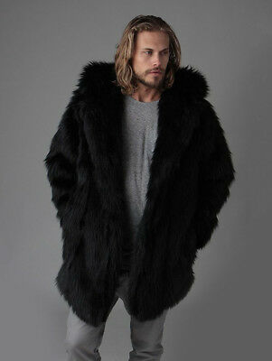Spirithoods Black Wolf Faux Fur Coat - Large / Unisex (New with tags)