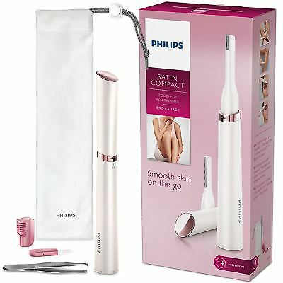 Philips HP6393/00 Women's Body, Face, Eyebrow Touch Up Pen Trimmer with Tweezers