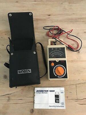 Vintage Thorn EMI AVO Multimeter 1000 Tested and Working with Robin Carry Bag