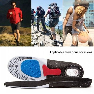 Sport Shoes Orthotic Foot Arch Support Heel Shoe Inserts Gel Massaging Insoles