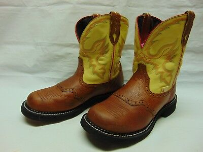 86558793f4e DAN POST WOMENS 9 B Brown Leather Pull On Cowgirl Ride Dance Rodeo ...
