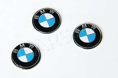Genuine BMW E60 E61 E63 E64 Key Fob Logo Emblems 11mm 3pcs OEM 66122155754