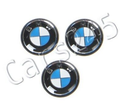 Genuine BMW E46 Compact Coupe Key Fob Logo Emblems 11mm 3pcs OEM 66122155753