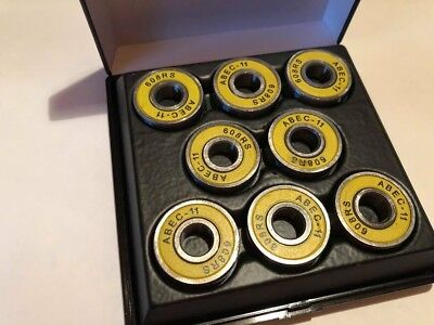VAMOS Speed Bearings - ABEC11 RS Premium Kugellager Gelb -Longboard Speed Fidget