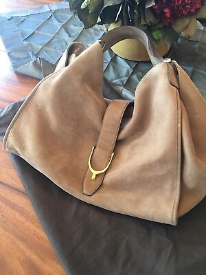0cd80ace4b09 Gucci soft nubuck leather stirrup handbag slouchy LARGE excellent authentic