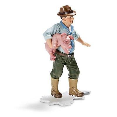 Schleich Farm Life - Farmer Holding a Pig -  13467 - NEW IN PACKAGE