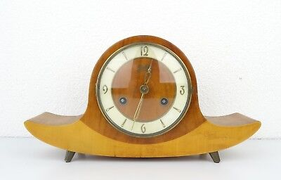 JUBA Schatz German Vintage Retro Antique Mantel Shelf Clock (Hermle Kienzle era)