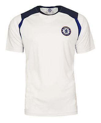 BOYS 4 5 Years CHELSEA FC Poly Training T Shirt Kids Football Top White CT31