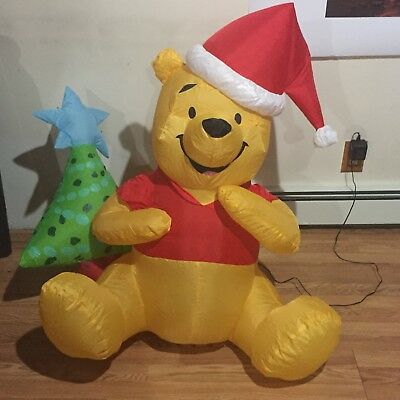 3 ft winnie the pooh inflatable christmas decoration disney - Disney Inflatable Christmas Decorations