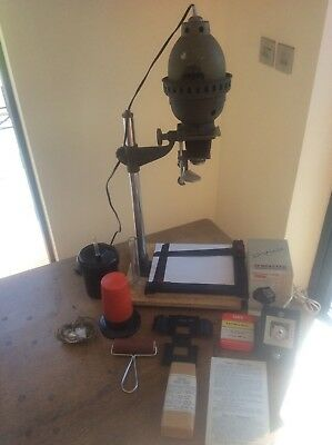 Joblot Photographic Darkroom Equipment Enlarger + Lens Developing Tank Timer Saf
