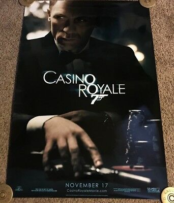 Original 2006 Casino Royale Teaser Movie Poster, DS, Rolled, 27x40, James Bond