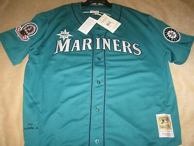 pretty nice c126d b94f5 AUTHENTIC MITCHELL AND NESS Ken GRIFFEY Jr '95 MARINERS Teal Jersey-Size 52  $300