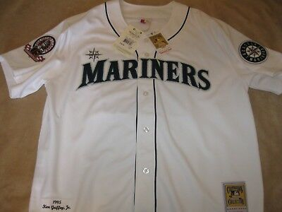 new styles dcc81 181e4 AUTHENTIC MITCHELL AND NESS Ken GRIFFEY '95 MARINERS WHITE Jersey- Size 52  $300
