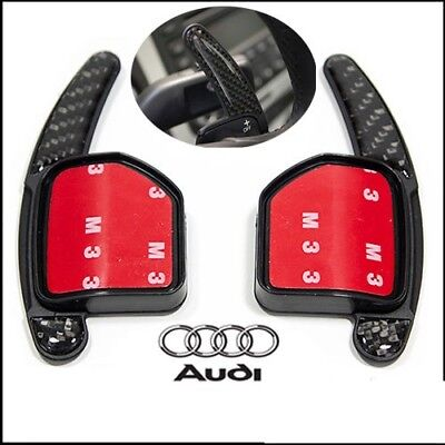 Audi A4 S4 RS4 Steering Wheel Carbon Fiber Shift Paddle Extensions 2004-2012