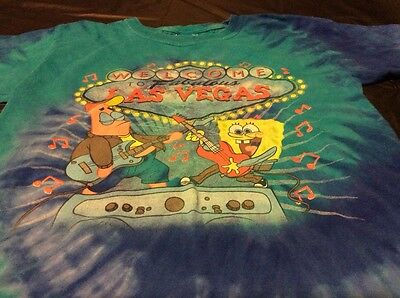 Las Vegas / Spongebob Squarepants - Tie Dye T-Shirt - Size Youth Small