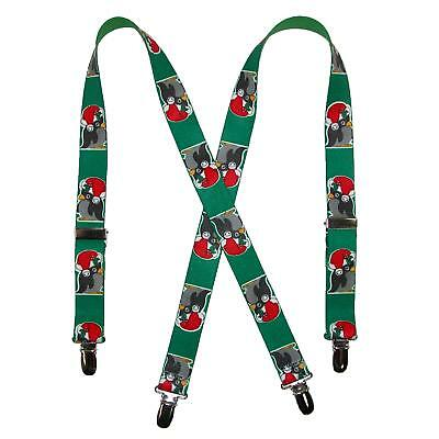 New CTM Kids' Christmas Penguin Print Holiday Suspenders