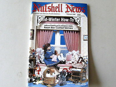 #2096 February 1990  Nutshell News Minatures Magazine For Creators & Collectors