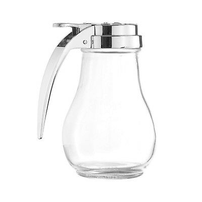 6-Ounce Glass Syrup Dispenser, Retro Style Bulb Jar Syrup Dispenser