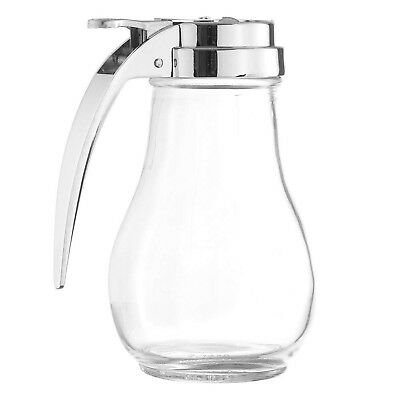 14-Ounce Glass Syrup Dispenser, Retro Style Jar Syrup Dispenser by Tezzorio
