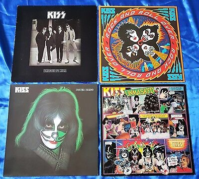 KISS 4 LP DRESSED TO KILL/ROCK AND ROLL OVER/PETER CRISS/UNMASKED, Dutch/German