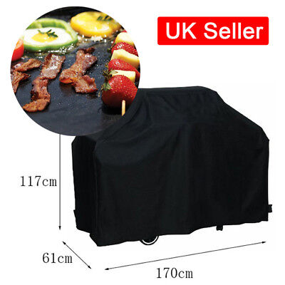 Durable Barbecue Small BBQ Rain Cover Garden Grill Mat Sheet Meat Thermometer UK