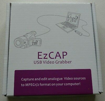 EzCAP USB Video Grabber- capture and edit analogue video to MPEG